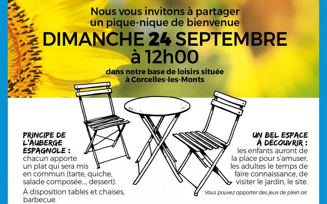 Pique-Nique de Bienvenue dimanche 24 septembre