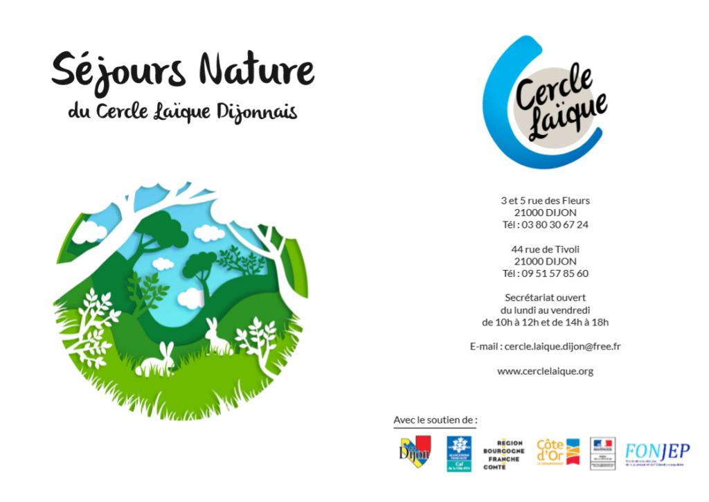 Illustration du séjour court nature du Cercle Laique Dijonnais