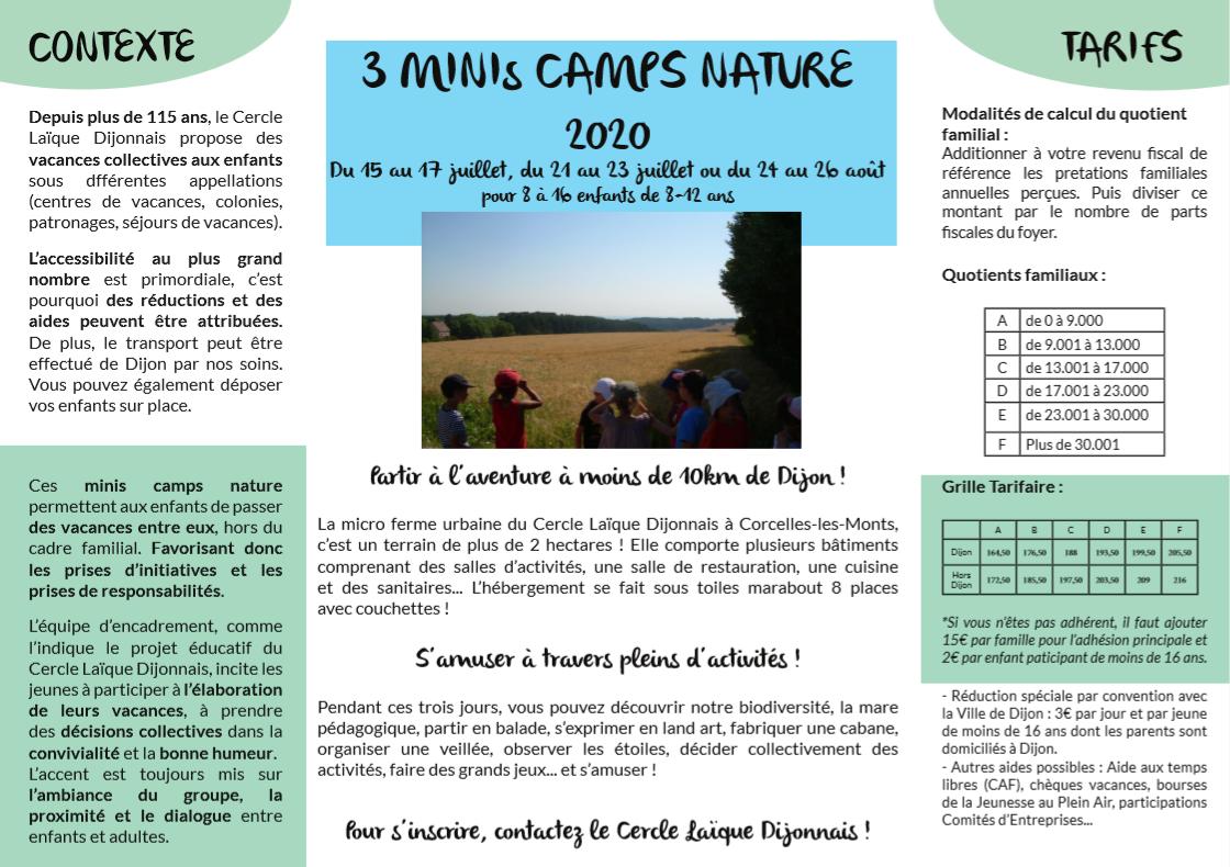 Illustration séjour nature du Cercle Laique Dijonnais