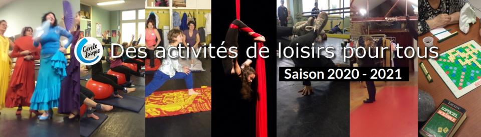 Slide 2 - Image des activités 2020-2021- Texte au coeur de l'image : Activités de loisirs pour tous !