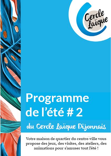Couverture du programme de l'été 2020